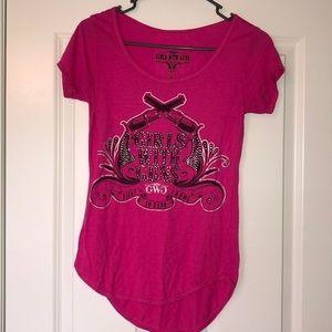 """""""Girls With Guns"""" Pink T-Shirt - S"""